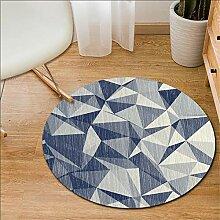 Grauer runder Teppich für Wohnzimmer