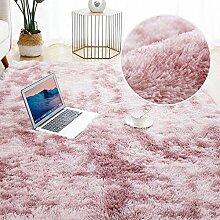 Grauer Teppich für Wohnzimmer Plüschteppich