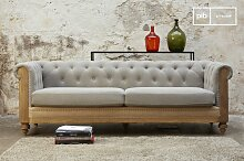 Graues Chesterfield Sofa Montaigu
