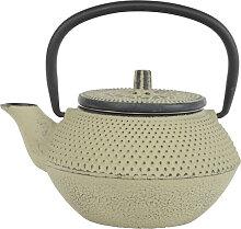 Graugrüne Teekanne aus Gusseisen - Gusseisen -