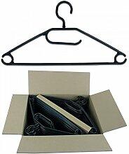 Gravidus Anti-Rutsch-Kleiderbügel mit drehbarem Haken, 50 Stück (Schwarz)