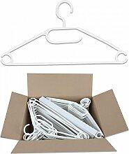 Gravidus Anti-Rutsch-Kleiderbügel mit drehbarem Haken, 50 Stück (Weiß)