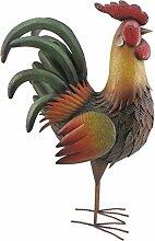 Gravidus dekorative Gartenfigur, Hahn aus Metall