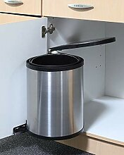Gravidus Einbau-Mülleimer aus Edelstahl, 16 Liter