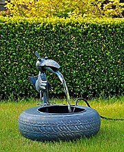 Gravidus Gartenbrunnen Vogelmotiv, mit Elektropumpe