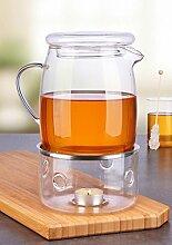 Gravidus Glas Teekanne mit Stövchen 1,4 Liter