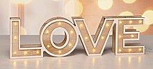 Gravidus hübsche LED Tischdekoration mit warmweißen LEDs (Love)
