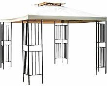 Gravidus schicker Metall-Pavillon mit Dach, ca. 3 x 3 m