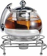 Gravidus Teekanne Glas mit Stövchen & Siebeinsatz
