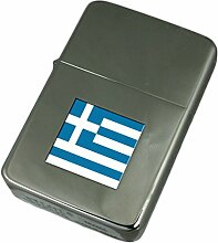 Gravur Feuerzeug Griechenland Flagge