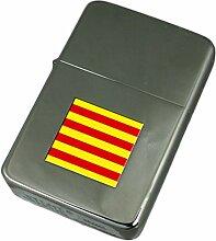 Gravur Feuerzeug Katalonien Flagge
