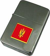 Gravur Feuerzeug Montenegro Flagge
