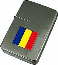 Gravur Feuerzeug România Flagge