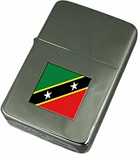 Gravur Feuerzeug St. Kitts und Nevis Flagge