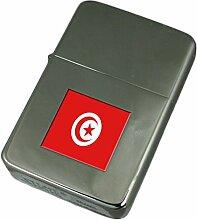 Gravur Feuerzeug Tunesien Flagge