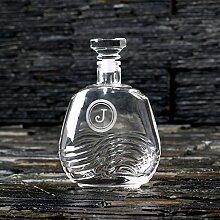 Gravur Vintage gestylte Bourbon oder Whiskey Dekanter–GRATIS Gravur Custom–tolle Geschenkidee für perfekte Symbiose aus überlegender oder Groomsmen.