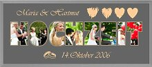 Gravurenalarm® Bilderrahmen Hochzeit 12004 60 x