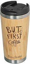 GRAVURZEILE | Kaffeebecher to go aus Bambus |