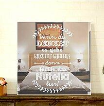 GRAVURZEILE Motivspiegel Löffle das Nutella leer