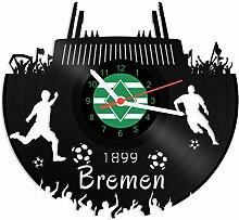 GRAVURZEILE Schallplattenuhr Bremen - 100%