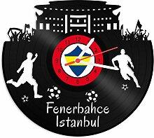 GRAVURZEILE Schallplattenuhr Fenerbahce Istanbul -