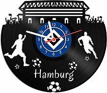 GRAVURZEILE Schallplattenuhr Hamburg - 100%