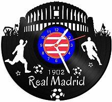 GRAVURZEILE Schallplattenuhr Real Madrid - 100%