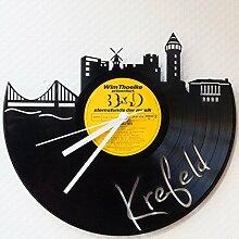 GRAVURZEILE Wanduhr aus einer echten Schallplatte