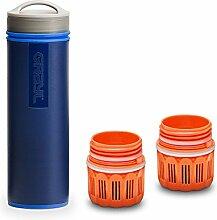 Grayl Ultralight Outdoor- & Reise- Wasserfilter Blau mit 2 Ersatzfiltern