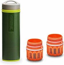Grayl Ultralight Outdoor- & Reise- Wasserfilter Grün mit 2 Ersatzfiltern