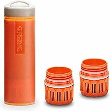 Grayl Ultralight Outdoor- & Reise- Wasserfilter orange mit 2 Ersatzfiltern