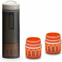 Grayl Ultralight Outdoor- & Reise Wasserfilter Schwarz mit 2 Ersatzfiltern
