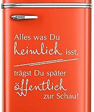 Graz Design 620445_40_030 Kühlschrank Aufkleber Wandtattoo Tattoo für Küche Motivations Spruch (Größe=40x40cm//Farbe=030 dunkelrot)