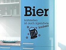 Graz Design 620460_30_040 Kühlschrank Aufkleber Wandtattoo Tattoo für Küche Bier kaltstellen Spruch (Größe=40x30cm//Farbe=040 violett)