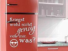 Graz Design 620481_50_056_de Kühlschrank Aufkleber Wandtattoo Tattoo für Küche Kriegst wohl genug Spruch (Größe=58x50cm//Farbe=056 lichtblau)