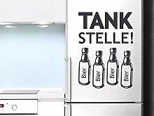 Graz Design 620488_40_010 Kühlschrank Aufkleber Wandtattoo Tattoo für Küche Tankstelle Bier Flaschen (Größe=56x40cm//Farbe=010 weiss)