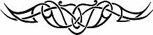 Graz Design 740094_70x16_070G Heckscheiben Auto Aufkleber Autoaufkleber Tuning Tribal Sticker Cartattoo (Gre=70x16cm//Farbe=070 schwarz)