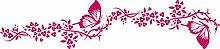Graz Design 740202_2x28SP_041G Auto Aufkleber Seitenaufkleber Tuning Sticker Schmetterling Blumen Ranke (Größe=2St. je 63x28cm//Farbe=041 pink)