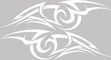 Graz Design 740276_2x28SP_010G Auto Aufkleber Seitenaufkleber Tuning Sticker Dekor Tribal Cartattoo Linien (Gre=2St. je 102x28cm//Farbe=010 weiss)