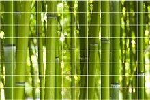 Graz Design 761203_15x15_120 Fliesen-aufkleber/dekor/bild Bad Küche, Bambus, 15 x 15 cm, Anzahl Fliesen 12 breit und 8 hoch, grün / natur