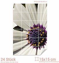 Graz Design 761464_15x15_60 Fliesenaufkleber Blume