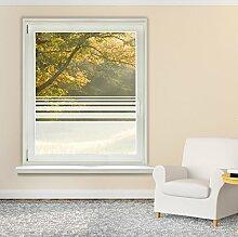 Graz Design 980050_57x70 Fensterfolie Glasdekor Sichtschutz Fensteraufkleber kleine Streifen (Größe=57x70cm)