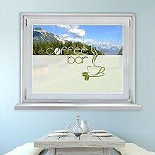 Graz Design 980066_90x57 Fensterfolie Glasdekor Aufkleber Sichtschutz Kche Kaffee Spruch (Gre=90x57cm)
