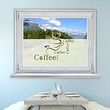Graz Design 980067_80x57 Fensterfolie Glasdekor Aufkleber Sichtschutz Küche Coffee Spruch (Größe=80x57cm)