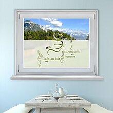 Graz Design 980068_110x57 Fensterfolie Glasdekor Aufkleber Sichtschutz Küche Kaffee Tasse (Größe=110x57cm)