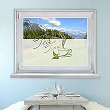 Graz Design 980069_80x57 Fensterfolie Glasdekor Aufkleber Sichtschutz Küche Tea Tee (Größe=80x57cm)