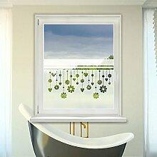 Graz Design 980078_110x57 Sichtschutz Fensterdekor Milchglasfolie Aufkleber Küche Blume Bad (Größe=110x57cm)