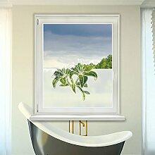 Graz Design 980079_90x57 Sichtschutz Fensterdekor Milchglasfolie Aufkleber Küche Bad Blume (Größe=90x57cm)
