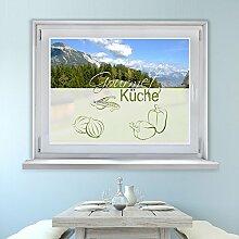 Graz Design 980082_90x57 Sichtschutz Fensterdekor Milchglasfolie Aufkleber Küche Gourmet (Größe=90x57cm)