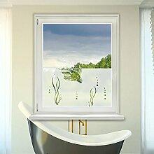 Graz Design 980086_90x57 Fensterdekor Milchglasfolie Sichtschutz Folie Badezimmer Fische WC (Gre=90x57cm)